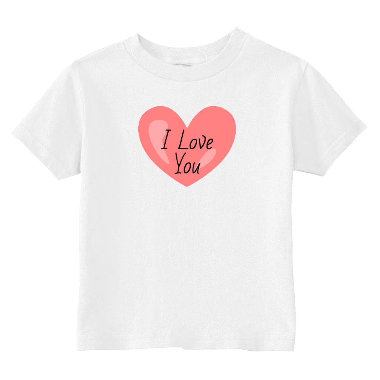 Custom Kids I Love You Heart Toddler T-Shirt 5-6T Light Blue U.S