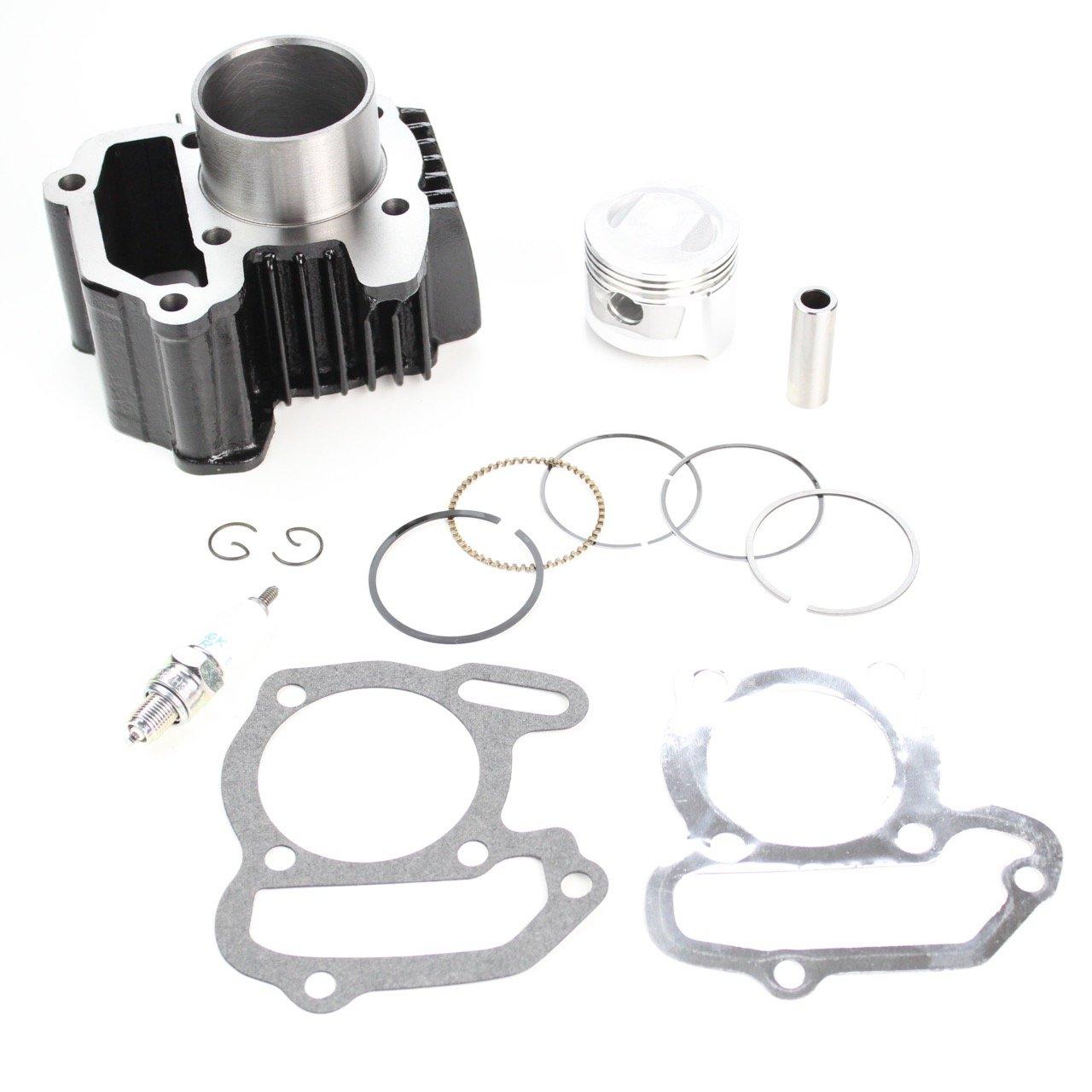 80cc Engine Piston Cylinder Gasket Top End Kit 1985-2008 Yamaha Badger Raptor 80 22K-11311-02-00 8TEN