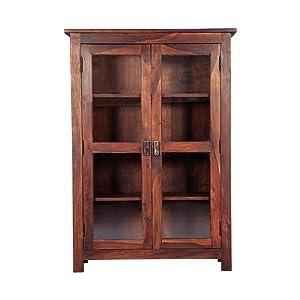 Gocosy Tiffany Display Shelf (Sheesham Wood, Honey Oak)