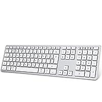 Klawiatura Bluetooth do Mac OS, OMOTON pełnowymiarowa bezprzewodowa klawiatura zaprojektowana dla Apple MacBook/iMac…