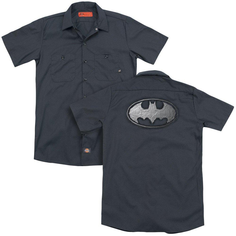 Batman Duct Tape Logo Adult Work Shirt