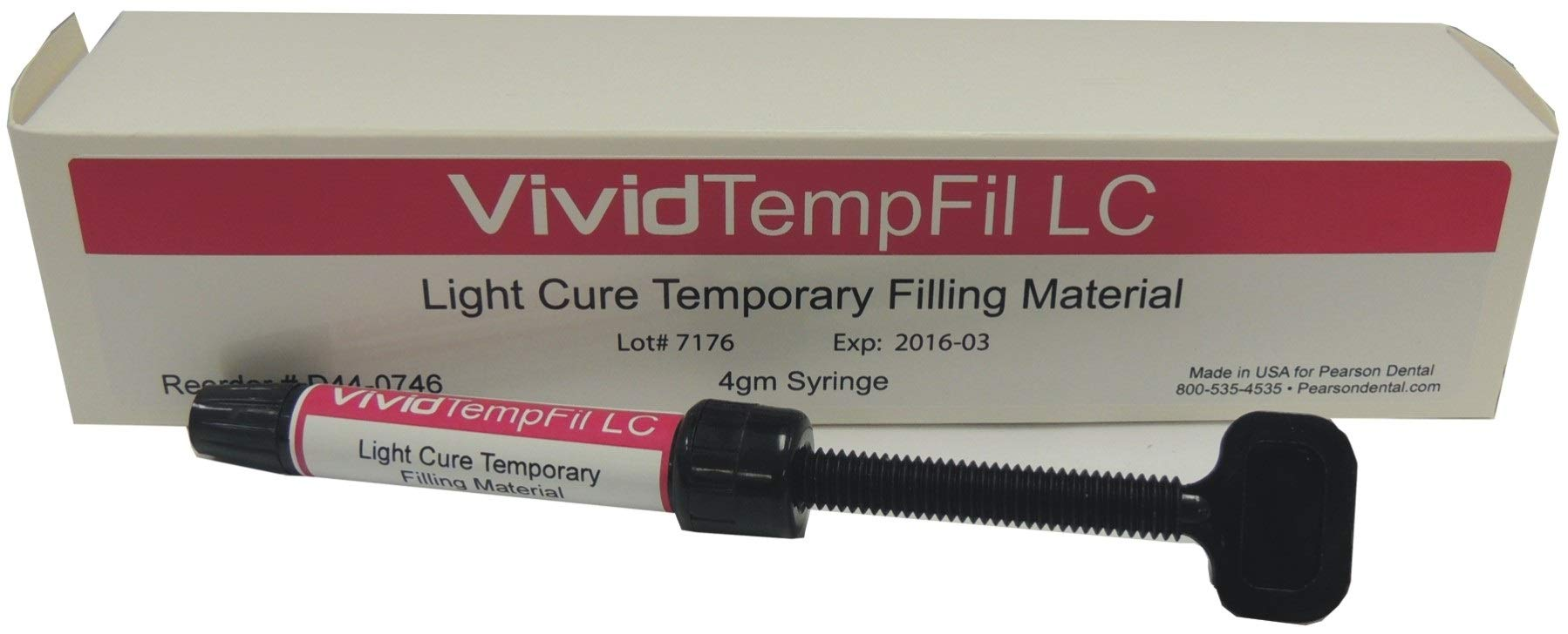 Vivid Temporary Filling Material Light Cure 4gm Syringe by Pearson Dental