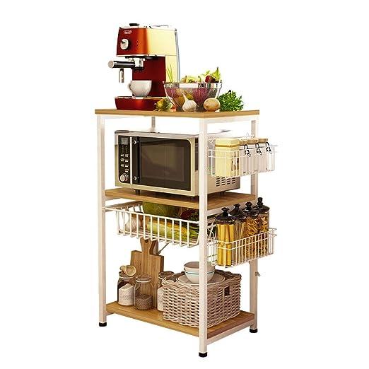 ZW-household Estantería Metálica para Microondas Cocina ...
