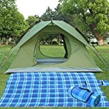 4 Person Automatic Popup Tent Instant Family Tent 4 Season Backpacking Tent for Outdoor Sports (green & picnic blanket) Review