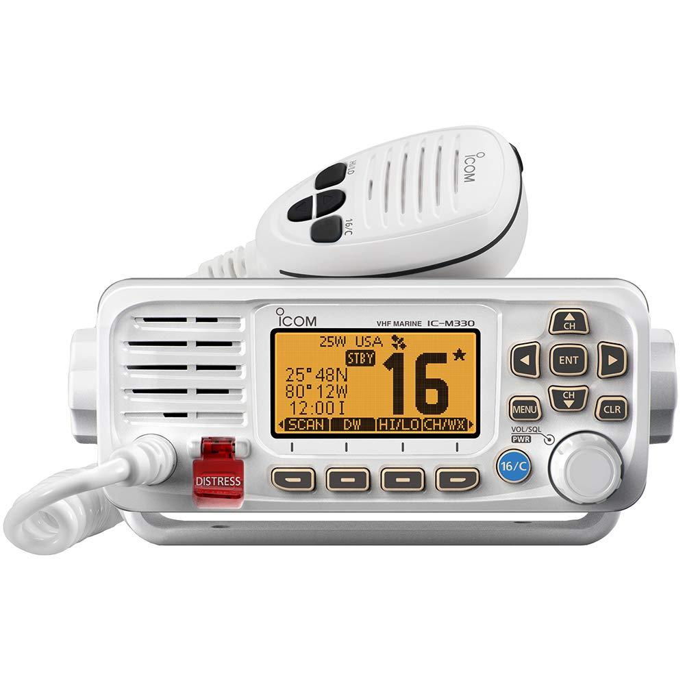ICOM M330G 41 Icom VHF, Basic, Compact, with GPS, White