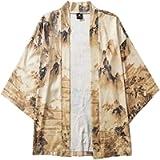 NIUQI Men's Kimono Womens Cloak Jacke Tops Blouse Japanese Five Point Sleeves Shirt