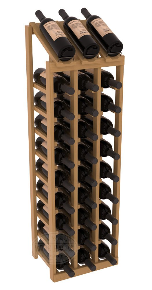 Wine Racks America Ponderosa Pine 3 Column 10 Row Display Top Kit. 13 Stains to Choose From!
