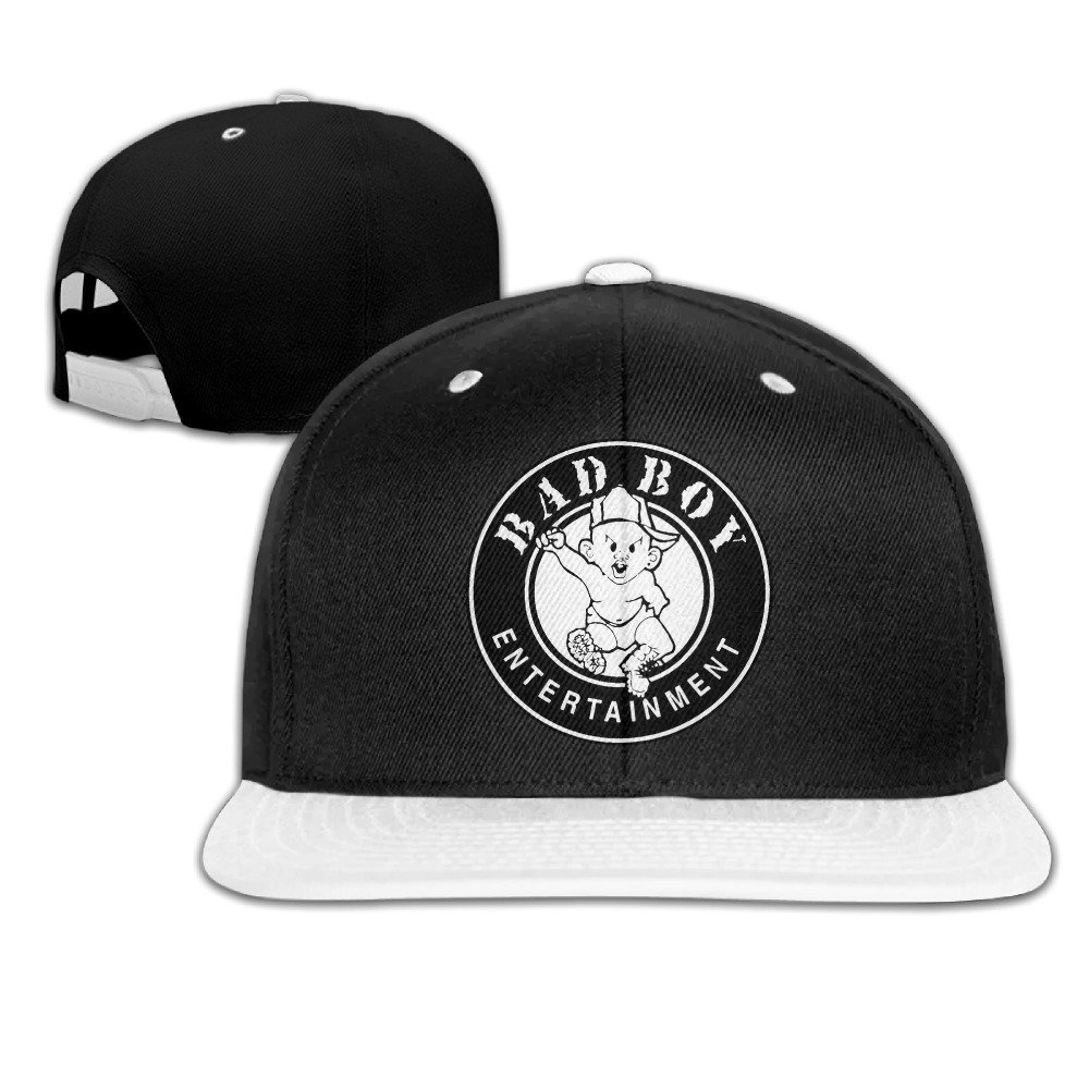 053615a1516 Huseki Puff Daddy Bad Boy Entertainment Snapback Adjustable Hip Hop Baseball  Cap Hat For Unisex White  Amazon.co.uk  Sports   Outdoors