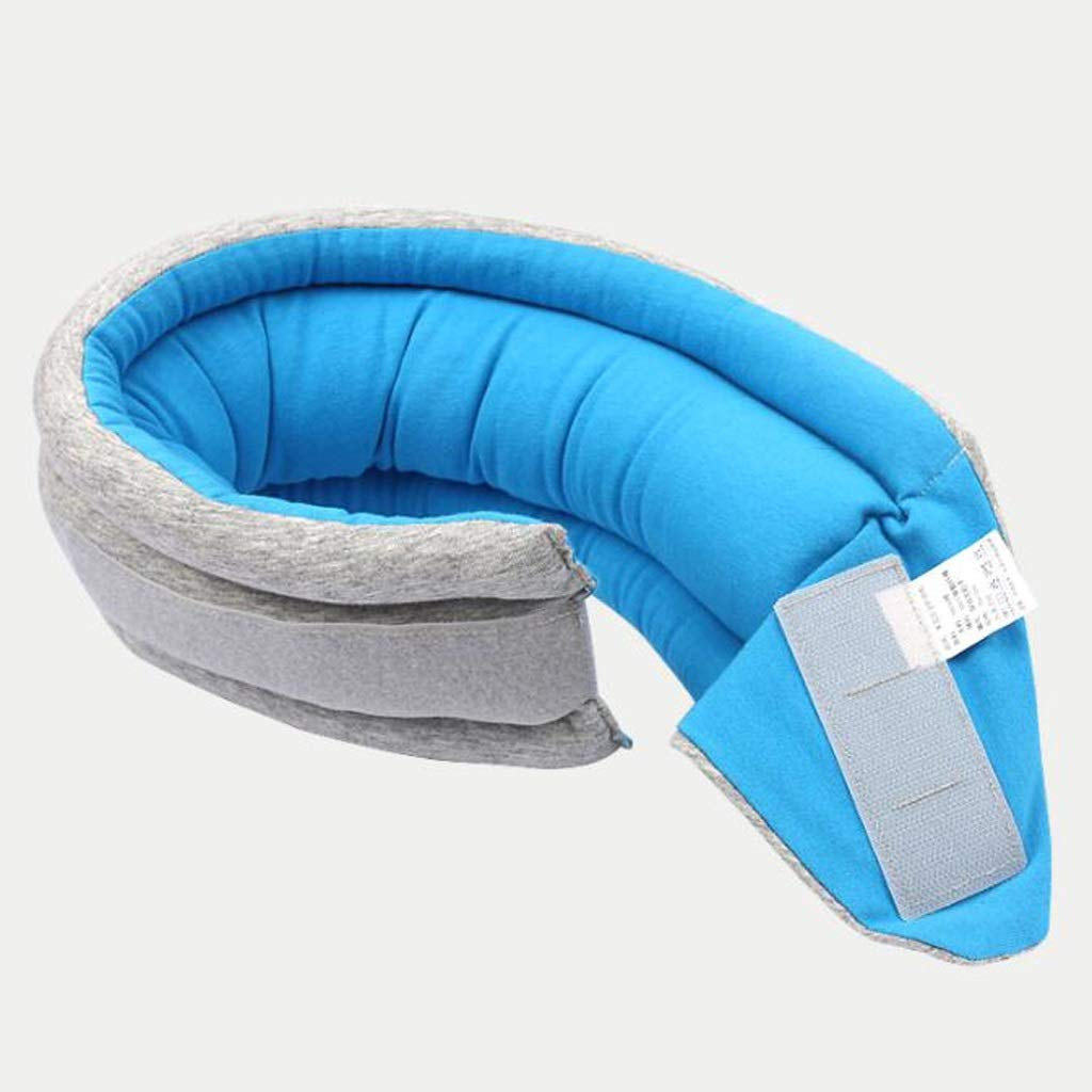 JSFQ U-Shaped Pillow Safety Neck Pillow Aircraft Travel Pillow Student nap Pillow Portable Folding U-Shaped Pillow U-Shaped Pillow (Color : Blue)