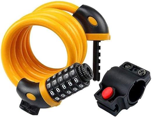 LQBZG- Candado de Bicicleta: Cable de Bicicleta de combinación de ...