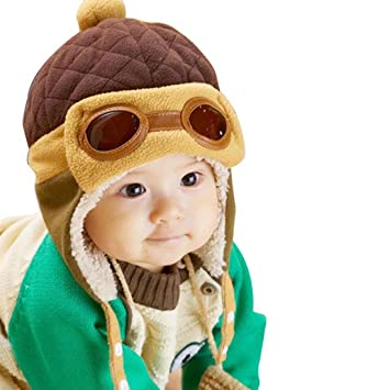 389d3d7bb07 Tonsee® Toddlers Cool Baby Boy Girl Kids Infant Winter Pilot Aviator Warm  Cap Hat Beanie