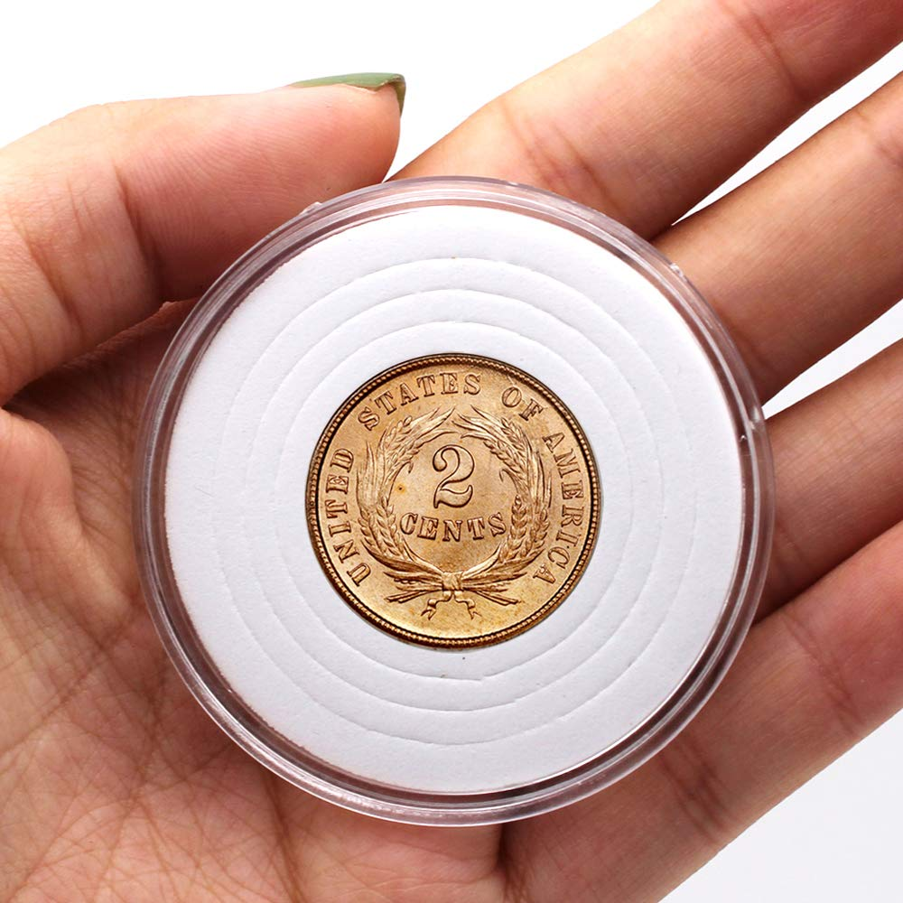 Coin Collection Case of 5 Size with Adjustable Gasket for Coin Collection American Silver Eagle Liberty Coin /&JFK Half Dolla 20 Pcs Clear Plastic Coin Capsules Type-III 18//23//28//33//38mm -20 Pcs