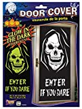 Glow in the Dark Grim Reaper Skull Door Cover Poster Halloween Decoration Prop