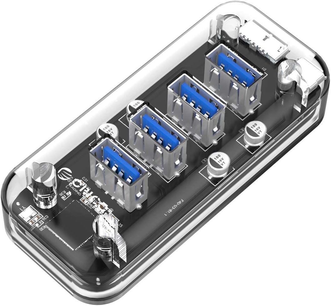 ORICO Concentrador USB 3.0, 4 Puertos USB 3.0 HUB de Escritorio ...