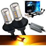 Syneticusa 3157 Error Free Canbus Ready Yellow/Amber LED Front/Rear Turn Signal Light Bulbs DRL Parking Lamp No Hyper…
