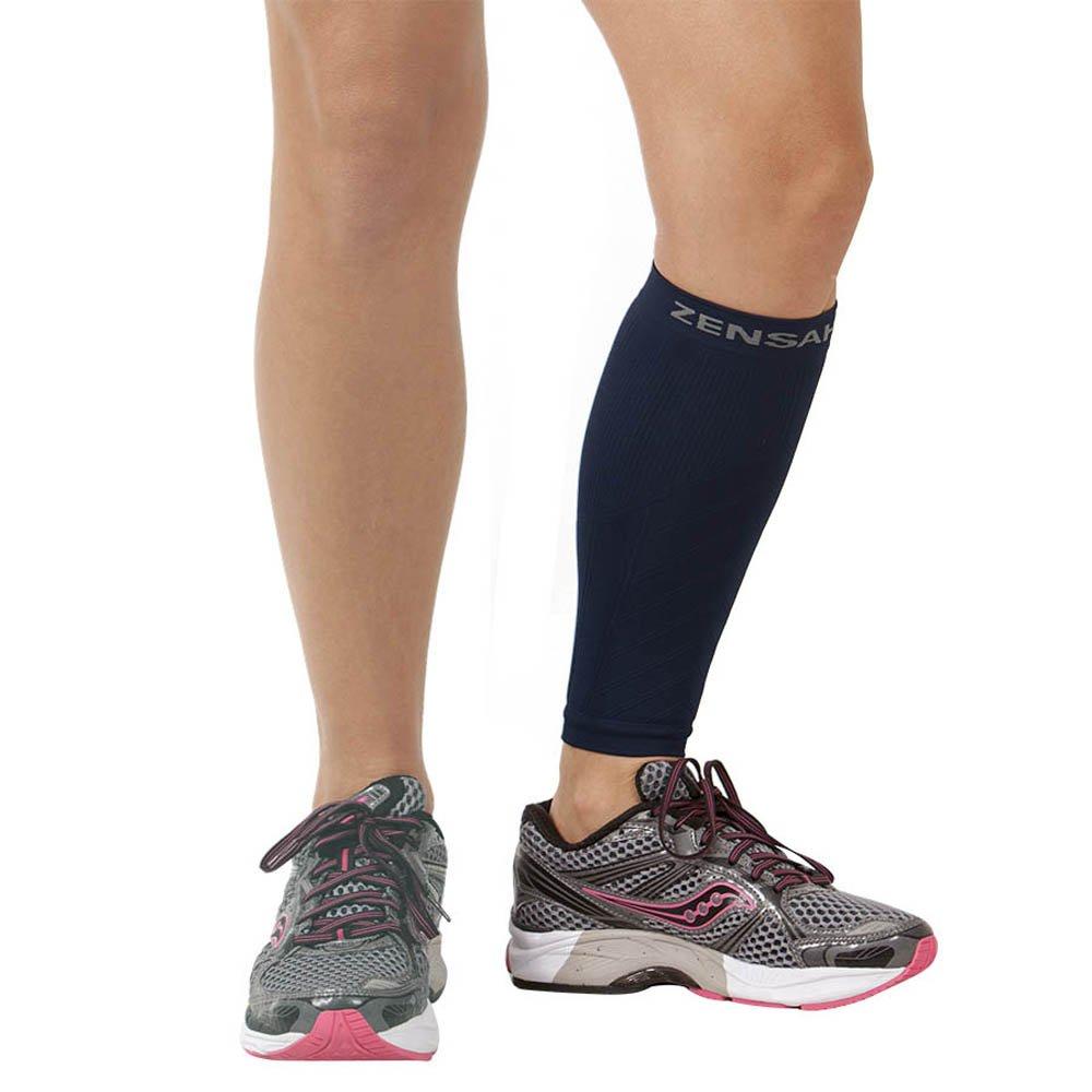 Zensah Calf/Shin Splint Compression Sleeve - Treat Shin Splints and Calf Strains - Compression Sleeve for Running, Basketball, Tennis, Hiking and Jogging - Shin Compression Sleeve (SINGLE SLEEVE) 6045