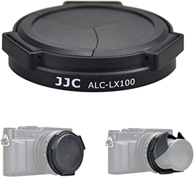 Silver JJC Auto Lens Cap for Panasonic DMC-LX100 Camera