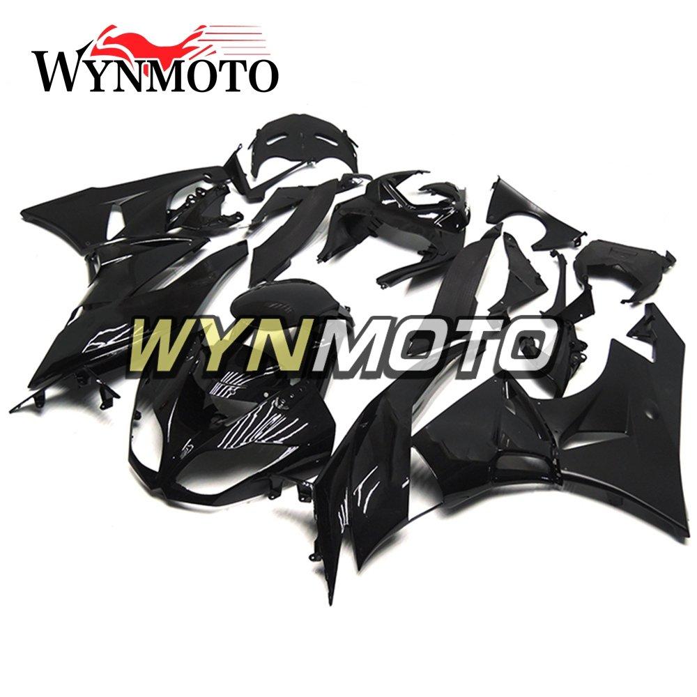 WYNMOTO ABS Plastic Injection Gloss Black Motorcycle Full Fairing Kit Cowlings For Kawasaki ZX6R 2009 2010 2011 2012 ZX-6R 2009 - 2012 Sportbike Bodywork