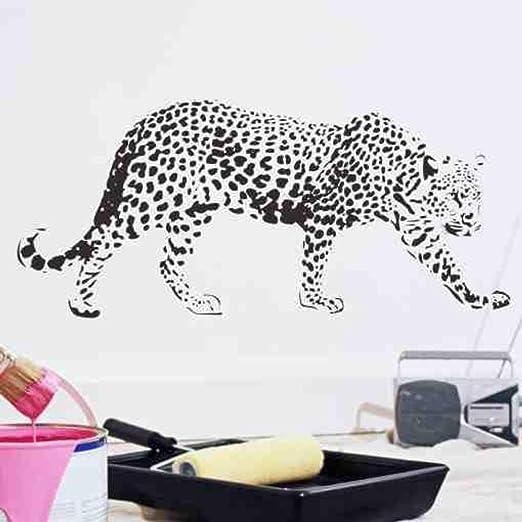 Czxmp Patrón De Leopardo Dormitorio Vinilo Wallpaper Diy Tatuajes ...