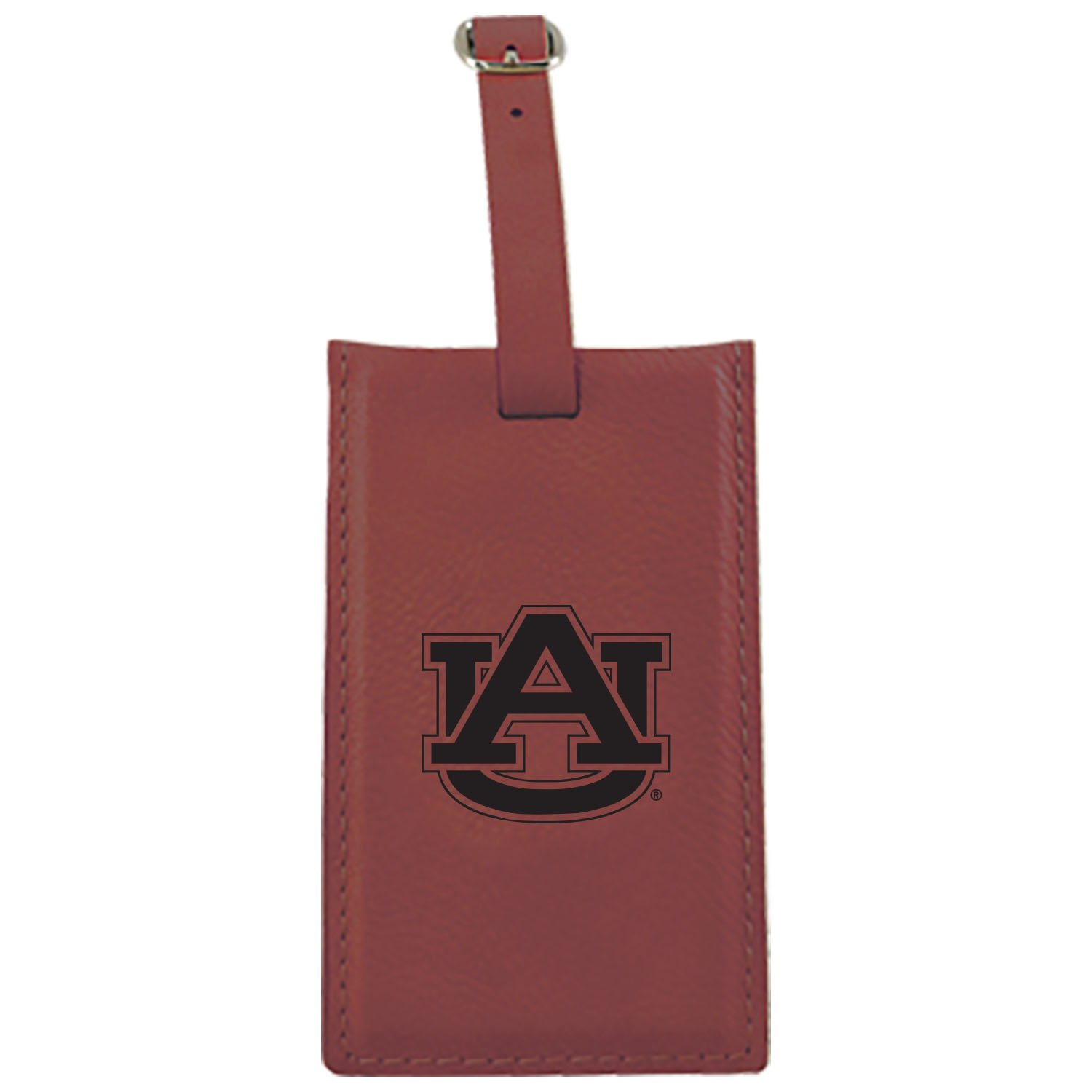 オーバーン大学 – Leatherette Luggage tag-burgundy B013VZKBJK