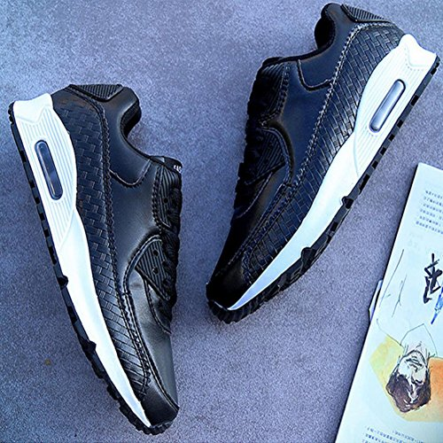Black with The GAOLIXIA Women Men Couple Sports Spring Paragraph Running Black Comfortable Sneakers Shoes Outdoor Same Shoes 36 and White New Casual Red Women's 44 Retro Shoes qUTqFwA