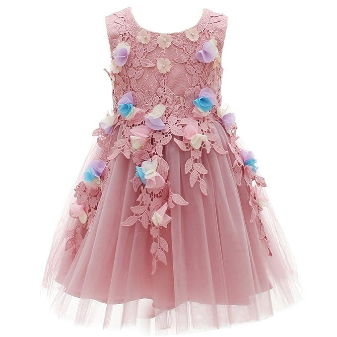 AHAHA Púrpura Niñas Vestidos Niñas Partido Princesa Vestido de Novia