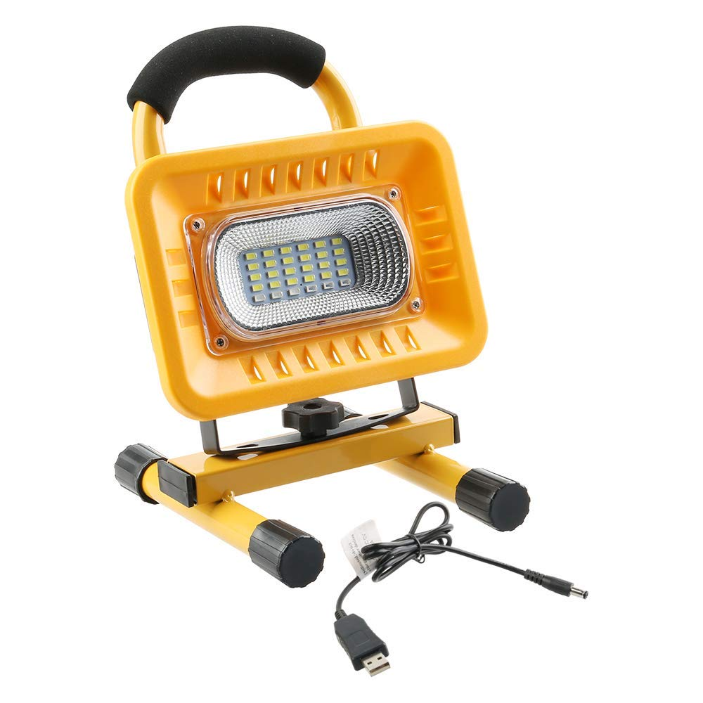 Outdoor Camping Lights LED Portable Work Lights Emergency SOS Red Lights Mode, Built-in Rechargeable Lithium Batteries with USB Ports to Charge Mobile Devices