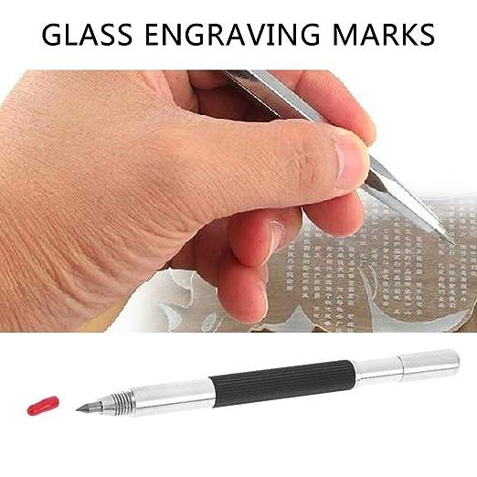SEN Pluma de Grabado de Marcado de Metal de Diamante Pluma de Punta de carburo de tungsteno para Vidrio Negro