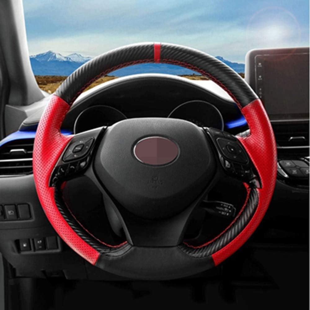 Housses De Direction LINBUDAO DIY Personnalis/é Paragraphe////Housse De Volant De Voiture pour Toyota CHR C HR 2017 2018 Accessoires De Voiture