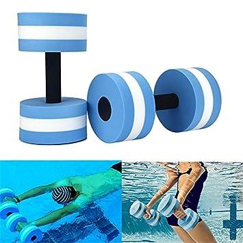 GFEU - Mancuernas de espuma EVA para ejercicio aeróbico de agua, equipo para ejercicios de