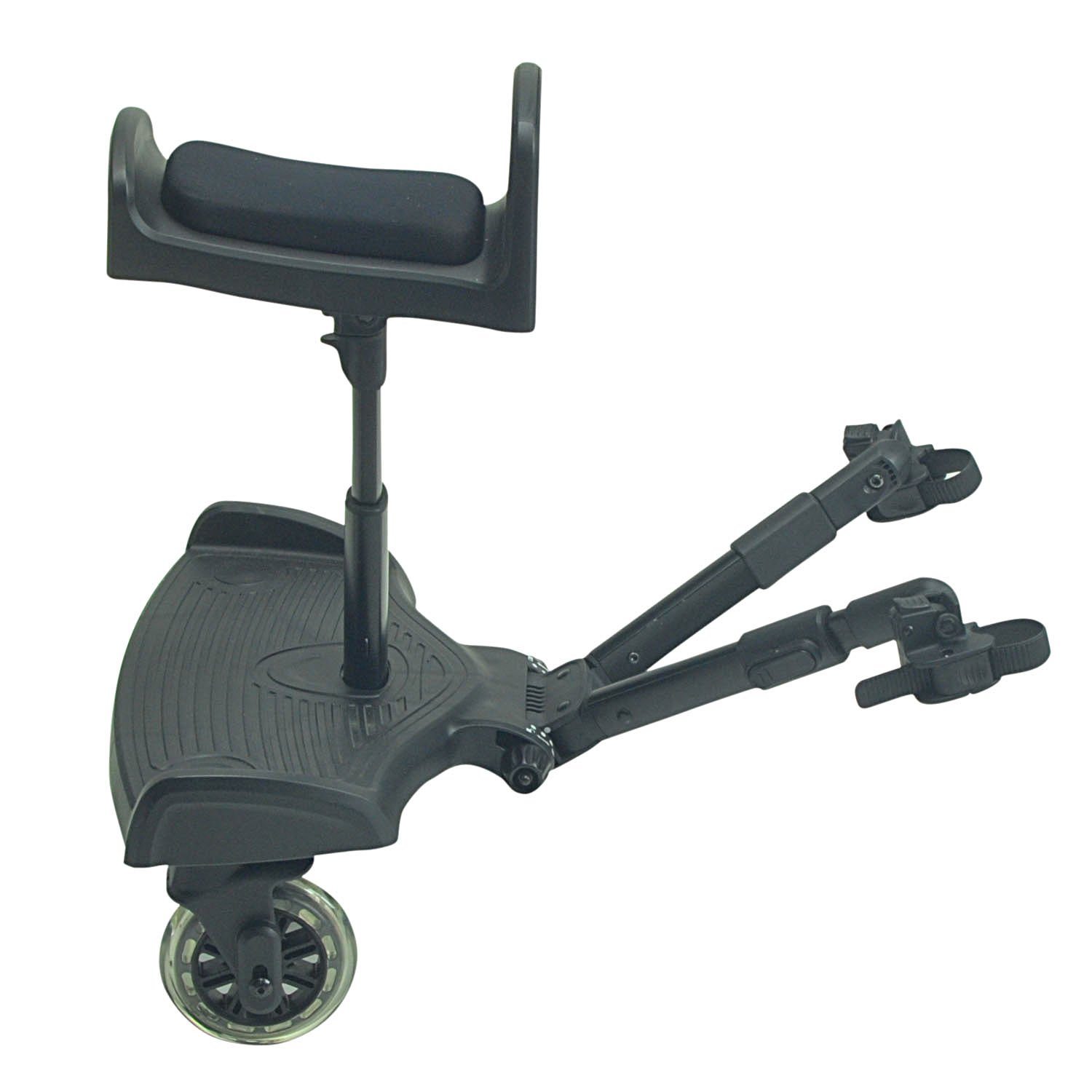 Ride On Board With Saddle Compatible With Out N About Nipper Double Little Black