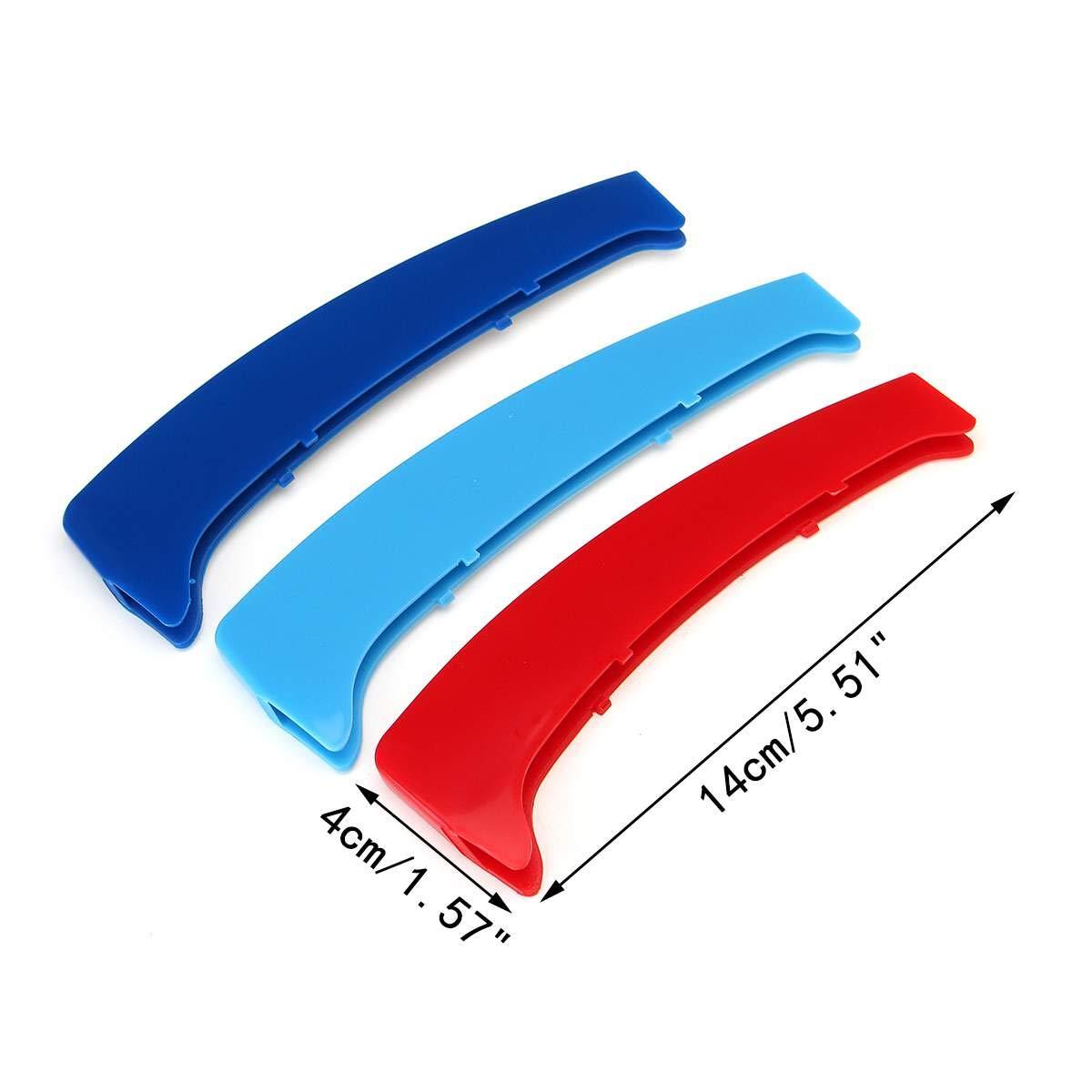 Round Style 12 Rejillas longzhimei Adecuado para 1 Series E81 E82 E87 E88 2004-2011 M-Colored Rejillas Frontales Cover Parrilla Delantera de Coche 3pcs