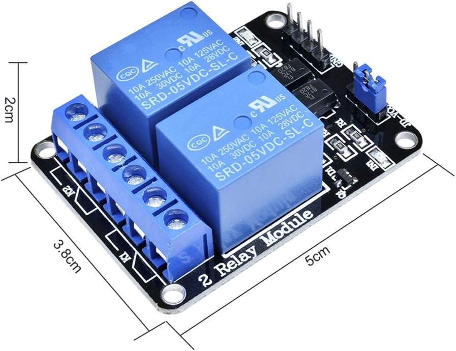 Aideepen Lot de 3 modules de relais 4 canaux 5 V avec optocoupleur pour PIC AVR DSP ARM Arduino 8051