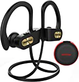 Mpow Wireless Headphones Bluetooth, Up to 9 Hrs Playing Time IPX7 Waterproof Running Headphones In-ear Earbuds for Gym Cycling Workout iPhone, iPad, Samsung, Siri with Built-in Noise Cancelling Mic