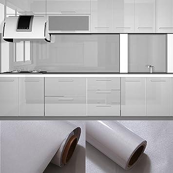 0,61x5,5M PVC Selbstklebend Möbel Klebefolie küchenschrank Aufkleber  schrankfolie schlafzimmer wand tapeten roller küche folieren Grau mit  Kostenloses ...