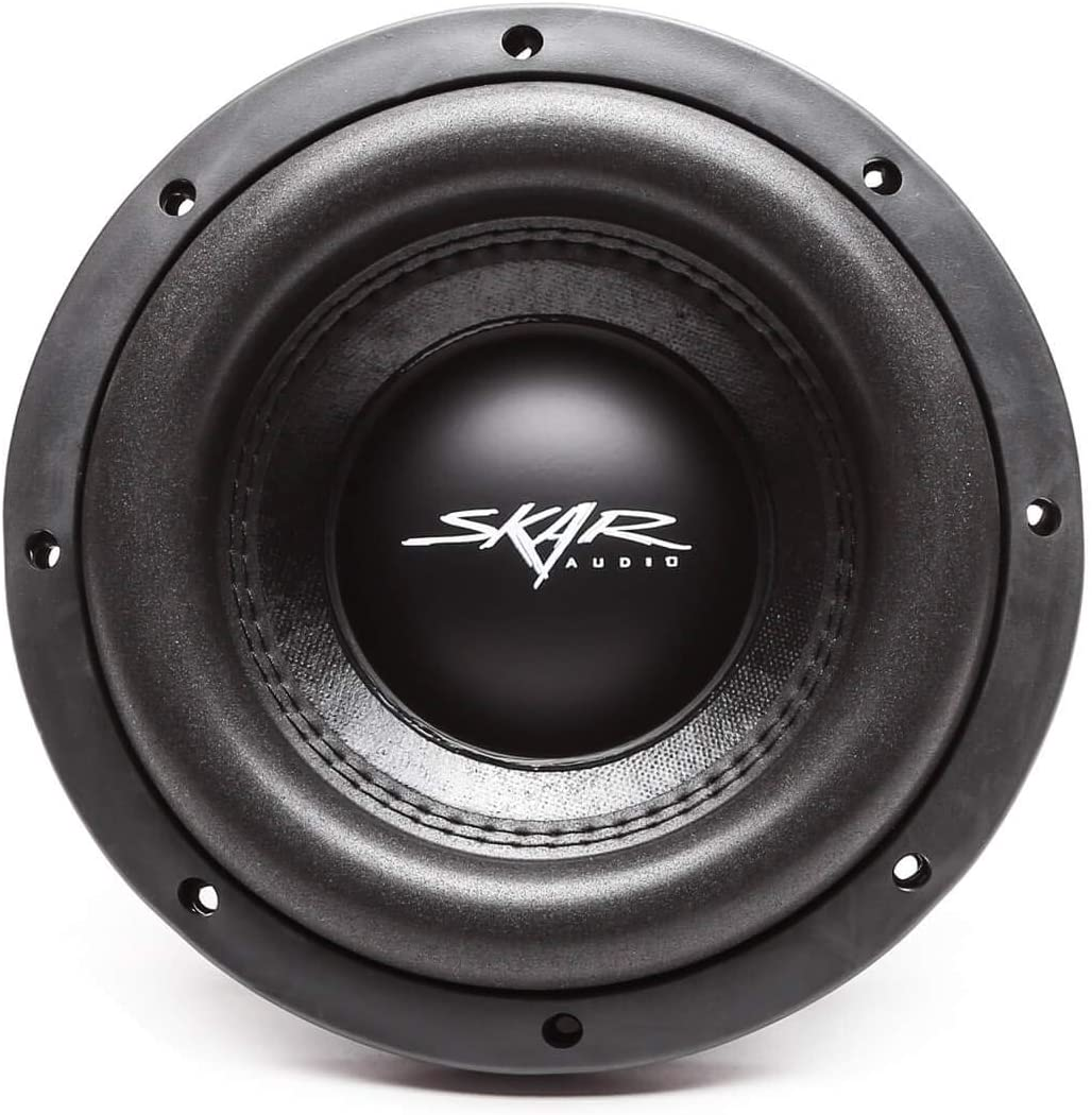 Pair of 2 2 Skar Audio VD-8 D2 8 600W Max Power Dual 2 Ohm Shallow Mount Subwoofers