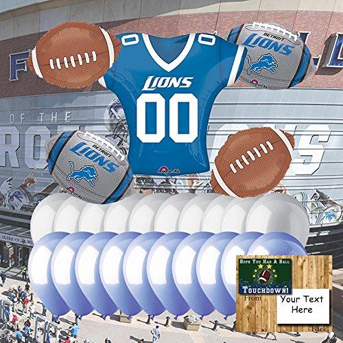 Lions Football Balloon - Detroit Lions Balloon Set