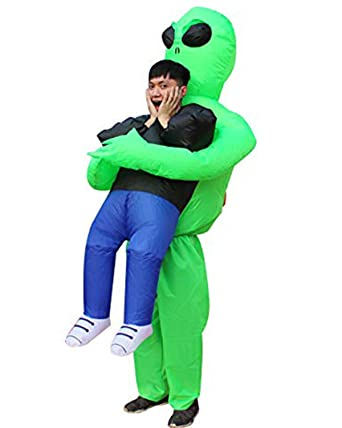 ca683f0b837d Amazon.com: Seasonblow Inflatable Alien Pick me up Costume Adult Fancy  Halloween Party Birthday Cosplay Fancy Dress up Suit: Clothing