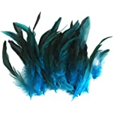 DSYJ 50pcs Sewing Craft Rooster Feathers 120-20mm (Deep Blue)