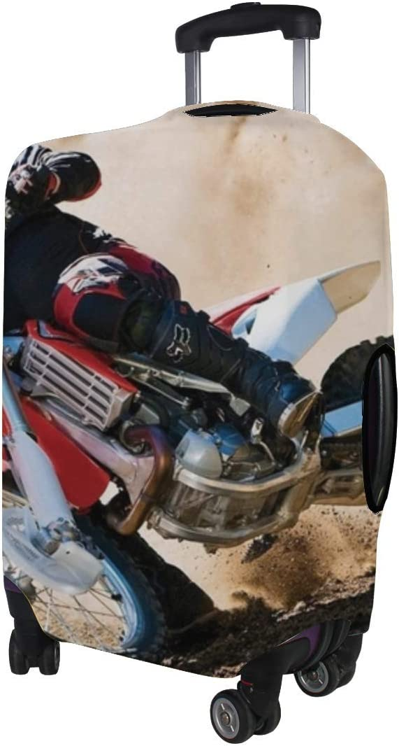 Speed Drift Dust Race Pattern Print Travel Luggage Protector Baggage Suitcase Cover Fits 18-21 Inch Luggage