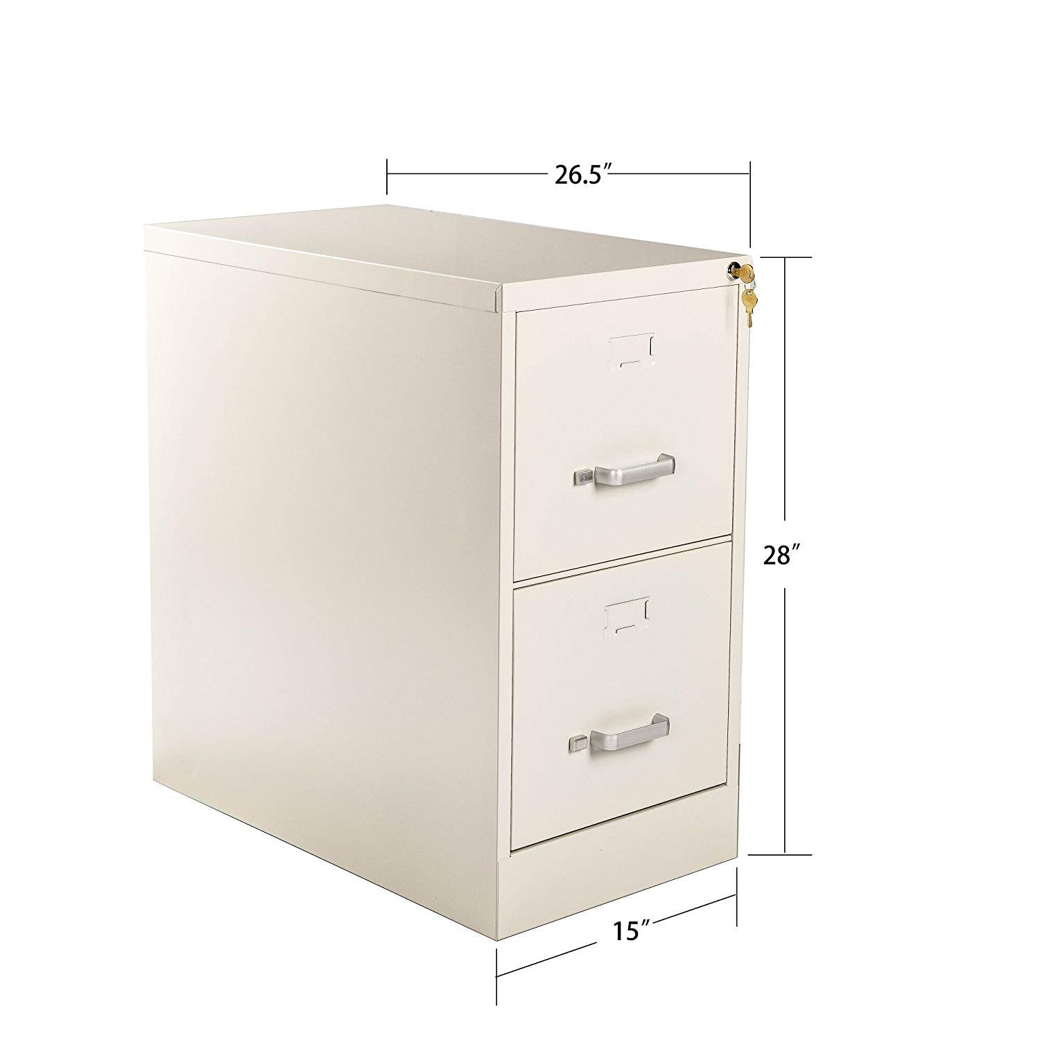 Henlus 2 Drawer Flie Cabinet with Lock Fully Assembled Metal Filing Cabinets for Home Office(Putty) (Putty, 2 Drawer) by Henlus (Image #4)