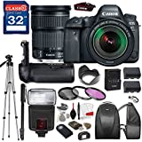 Canon EOS 6D Mark II DSLR Camera with Canon EF 24-105mm f/3.5-5.6 IS STM Lens, TTL Flash, Tripod, Mono-Pod, Battery Grip + Professional Accessory Bundle