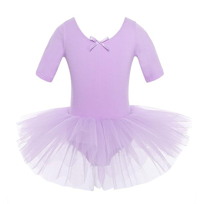 Kinder Mädchen Ballettkleid Pailletten Tütü Tanzkleid Ballettanzug Turnanzug