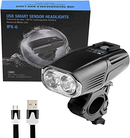 LED USB Rechargeable Bycicle Light Headlamp Bike Headlight Front Lamp Waterproof