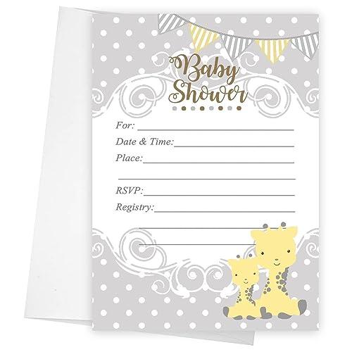 Amazon giraffe baby shower invitations gender neutral set of 20 giraffe baby shower invitations gender neutral set of 20 5x7 filmwisefo