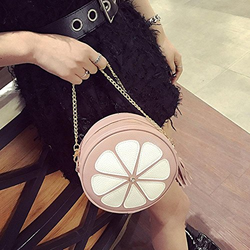 Cross Body Bags Domybest Pink Round Women Messenger Bag Tassel Fashion Handbag Mini Bag Chain Shoulder ITw8tnwZq