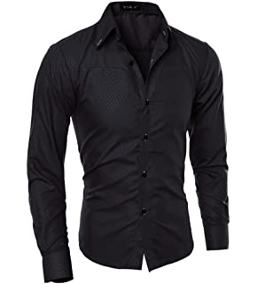 LANBAOSI Winter Warm Casual Button Down Shirts Fleece Lined Long Sleeve Mens
