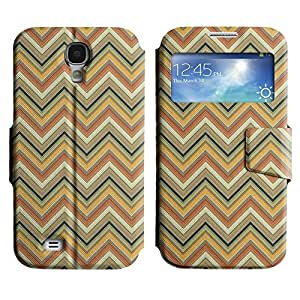 LEOCASE zigzag Funda Carcasa Cuero Tapa Case Para Samsung Galaxy S4 I9500 No.1007221