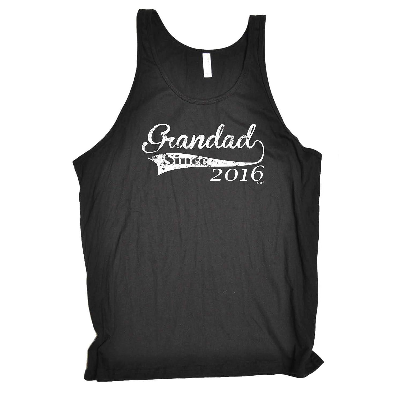 Funny Novelty Vest - 2016 Grandad Since Bella Singlet Top Muscle Singlets Vests