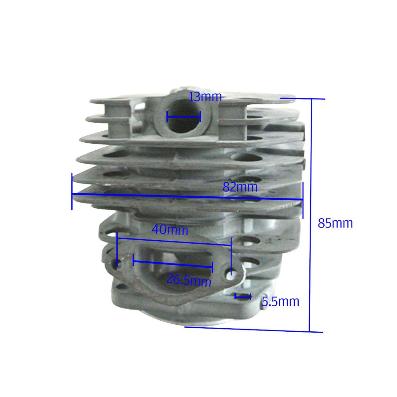 JRL Kit de Pist/ón cil/índrico para Motores DE 45 mm para Chino 5200 52 CC Motosierra Kiam Silverline